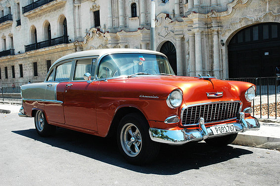 cuban antique car Picture